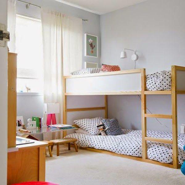 Habitación compartida para hermanos: Consejos para ganar espacio ...
